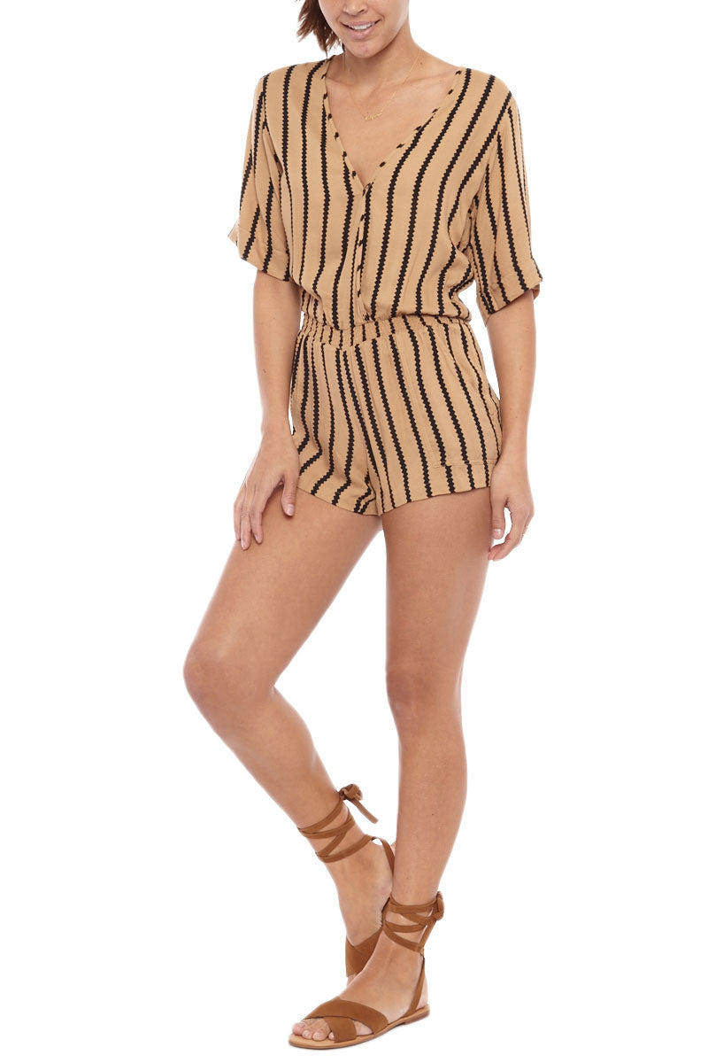BEACHGOLD Mali Picolo Playsuit - Toffee Romper | Toffee| Beachgold Mali Picolo Playsuite - Toffee