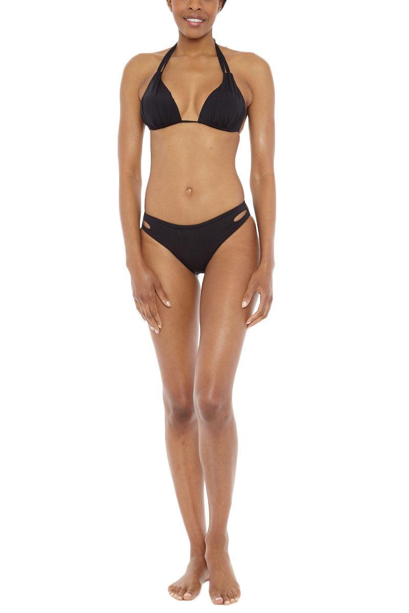 BEACH JOY Cut Out Bikini Bottom Bikini Bottom | Black| Beach Joy Cut Out Bikini Bottom