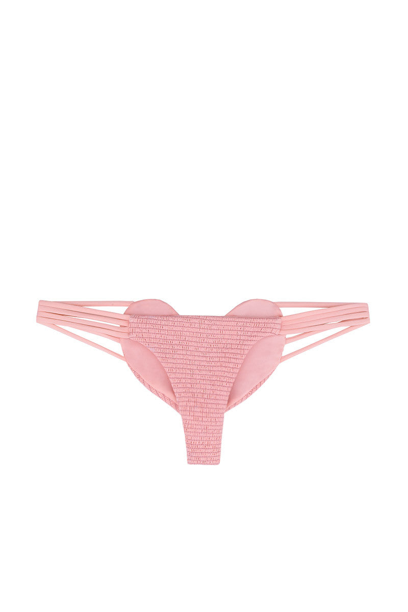 BETTINIS Pink Smocked Heart Bottom Bikini Bottom | Pink Smocked| Bettinis Pink Smocked Heart Bikini Bottom