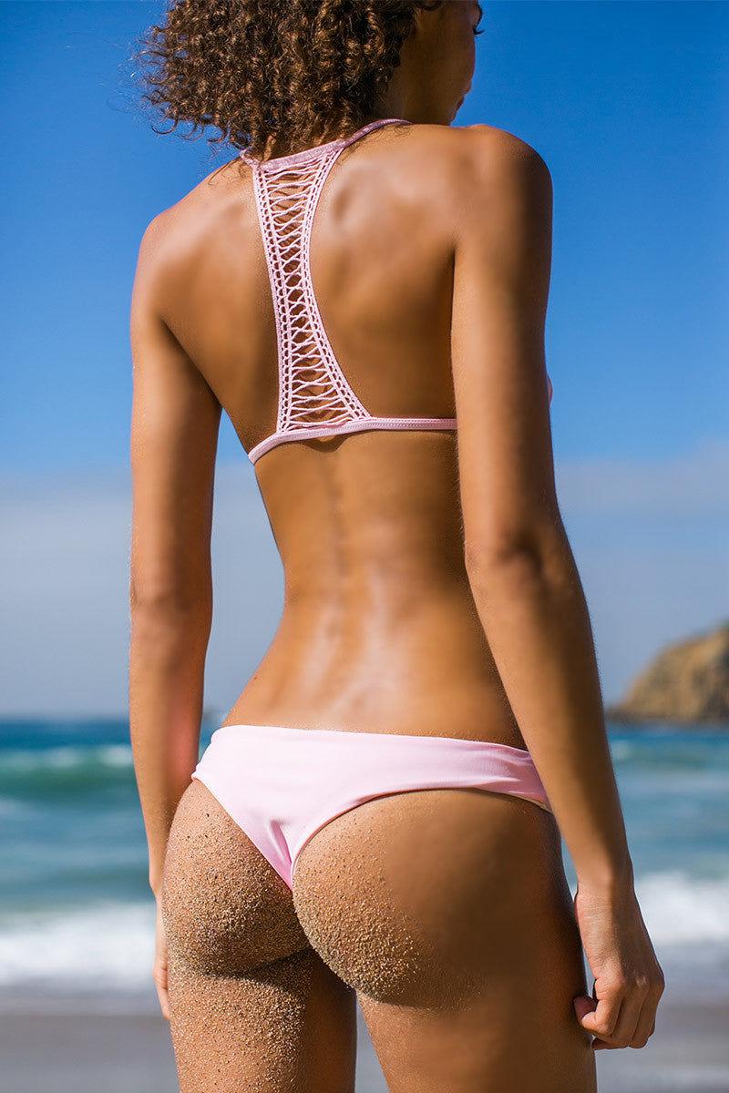 BETTINIS Pink T Back Triangle Top Bikini Top   Pink Rachel