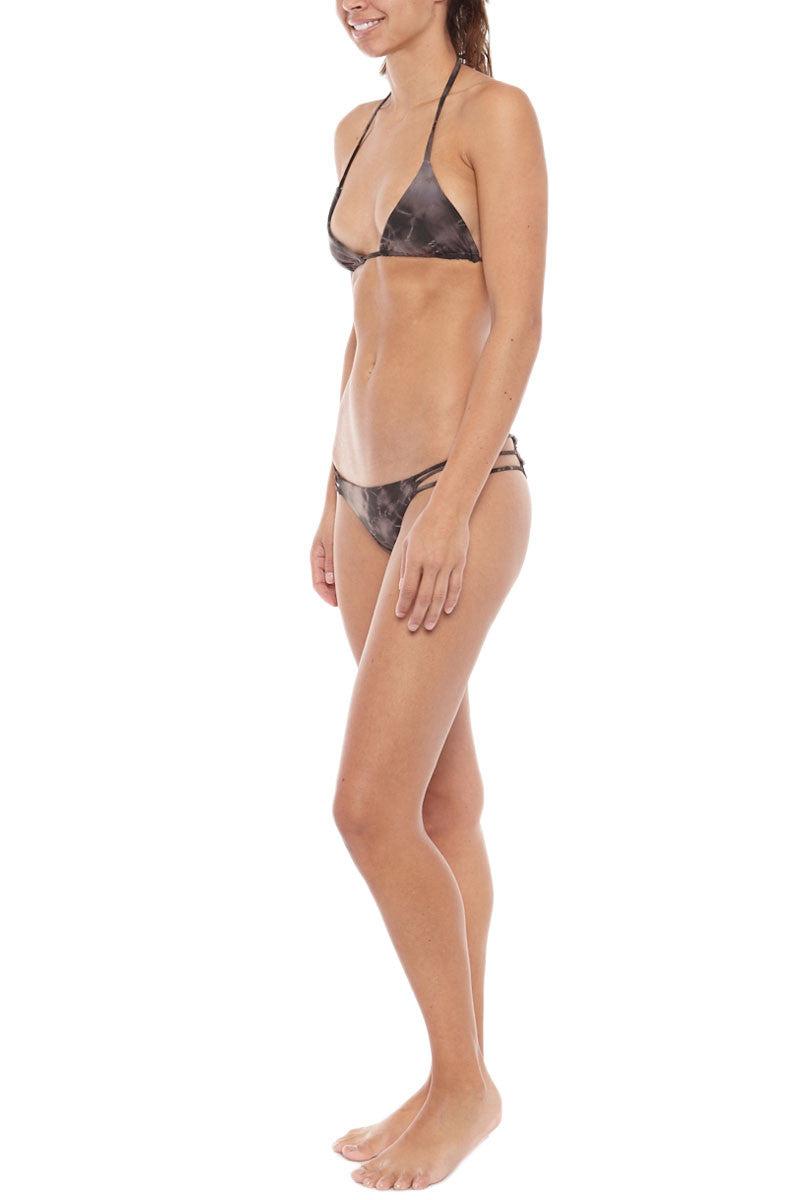 BETTINIS Heart-Shaped Brazilian Bikini Bottom - Sand Tie Dye Bikini Bottom | Tie Dye Sand| Bettinis Heart Bikini Bottom