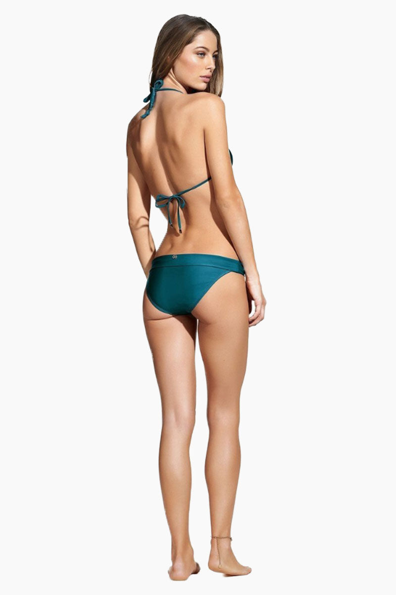 VIX SWIMWEAR Bia Tube Full Bottom Bikini Bottom | Imperial Blue| Vix Swimwear Bia Tube Bikini Bottom Features - Low-rise moderate bikini bottom in deep turquoise blue