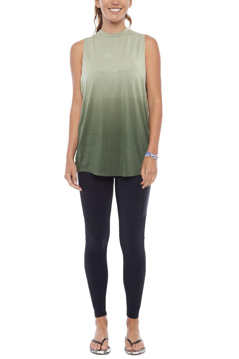 BIKINI.COM Bamboo Tank Top Top | Olive Green Ombre| Bikini.com Bamboo Tank