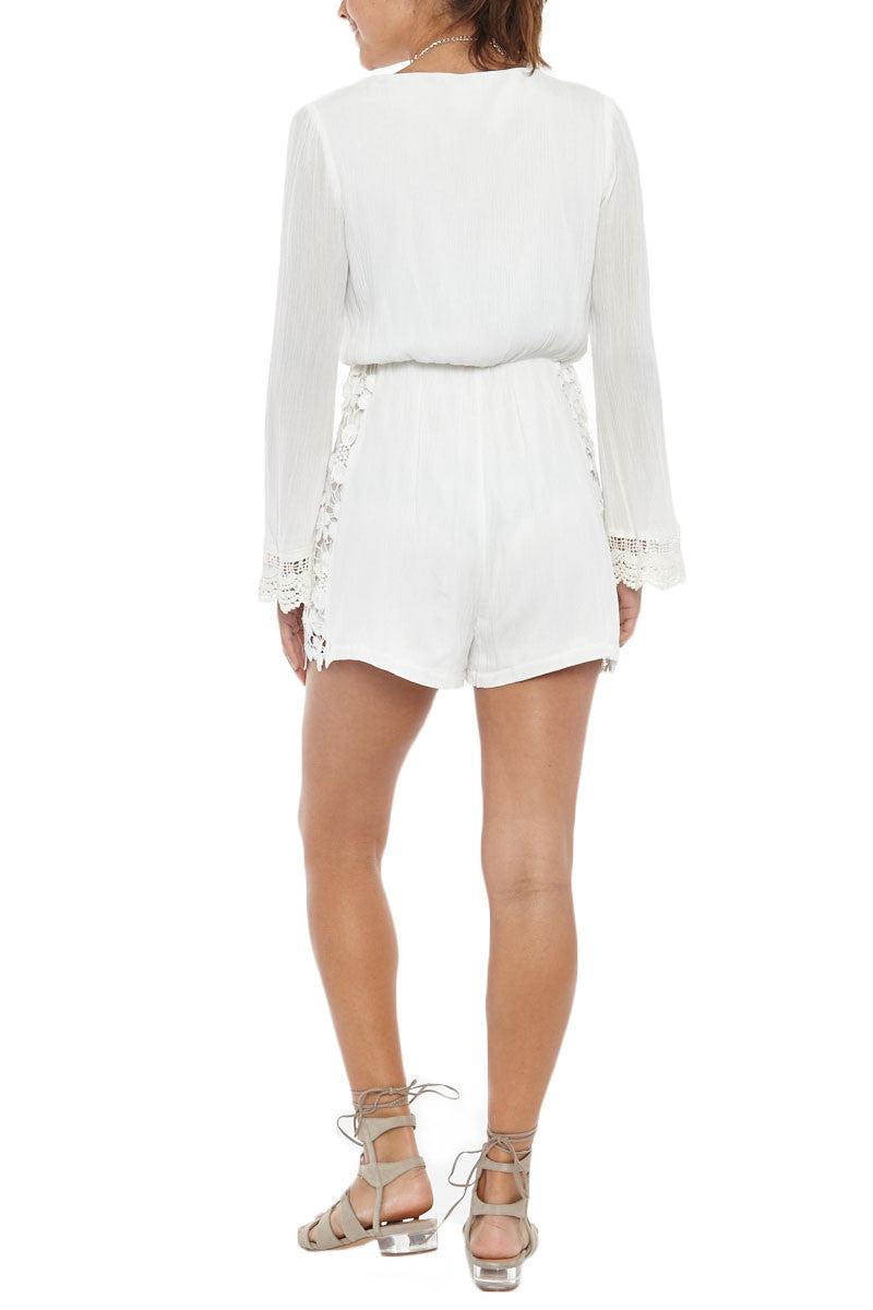 BIKINI.COM Lace Romper - White Romper | White|Bikini.com Lace Romper