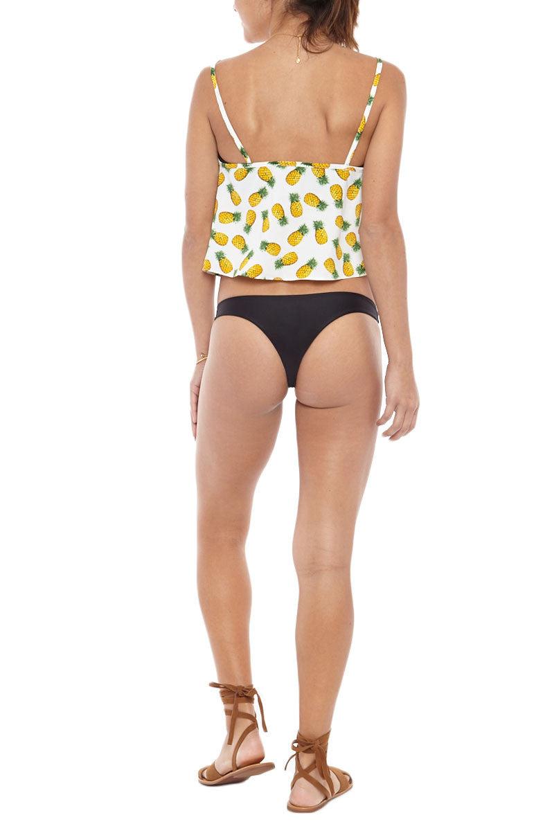 BIKINI.COM Pineapple Crop Top Top | White/Pineapple|Bikini.com Pineapple Crop Top