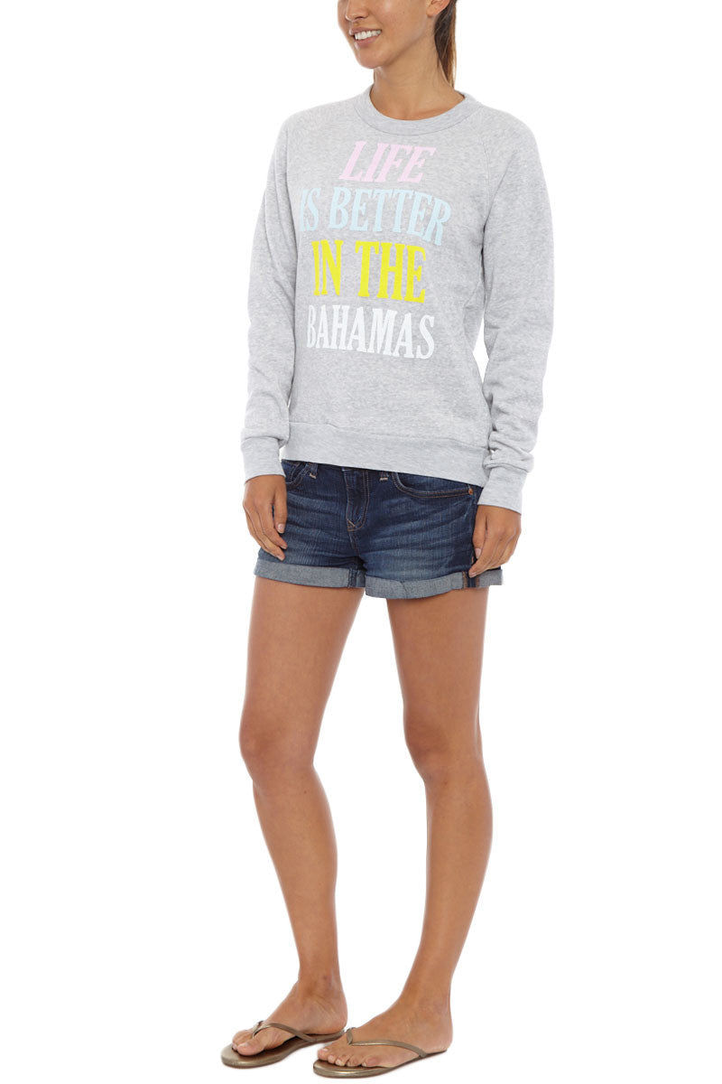 BLAINE BOWEN Bahamas Sweater Top | Light Grey| Blaine Bowen Bahamas Sweater