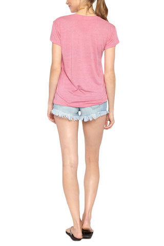 BLAINE BOWEN Beach Face T-Shirt Top | Pink| Blaine Bowen Beach Face T-Shirt