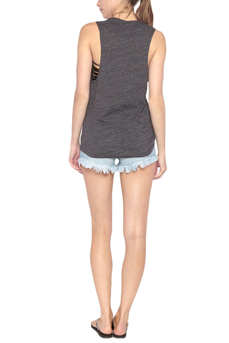 BLAINE BOWEN Make Waves Tank Top | Charcoal| Blaine Bowen Make Waves Tank