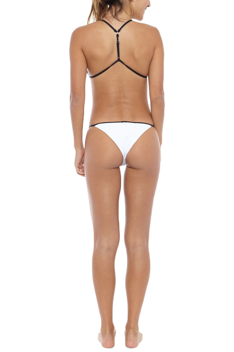 BLUE LIFE Hypnotic Bikini Bottom - White Foil Snake Bikini Bottom | White Foil Snake| Blue Life Hypnotic Bikini Bottom
