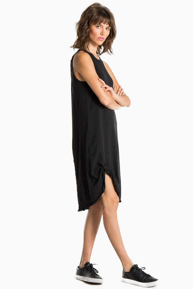 N:PHILANTHROPY Boo Dress - Black Cat Dress | Black Cat| n:Philanthropy Boo Dress - Black Cat Scoop neckline  Sleeveless t-shirt dress  Faux knot tie at front Keyhole cut out in the back Made in LA  Side View