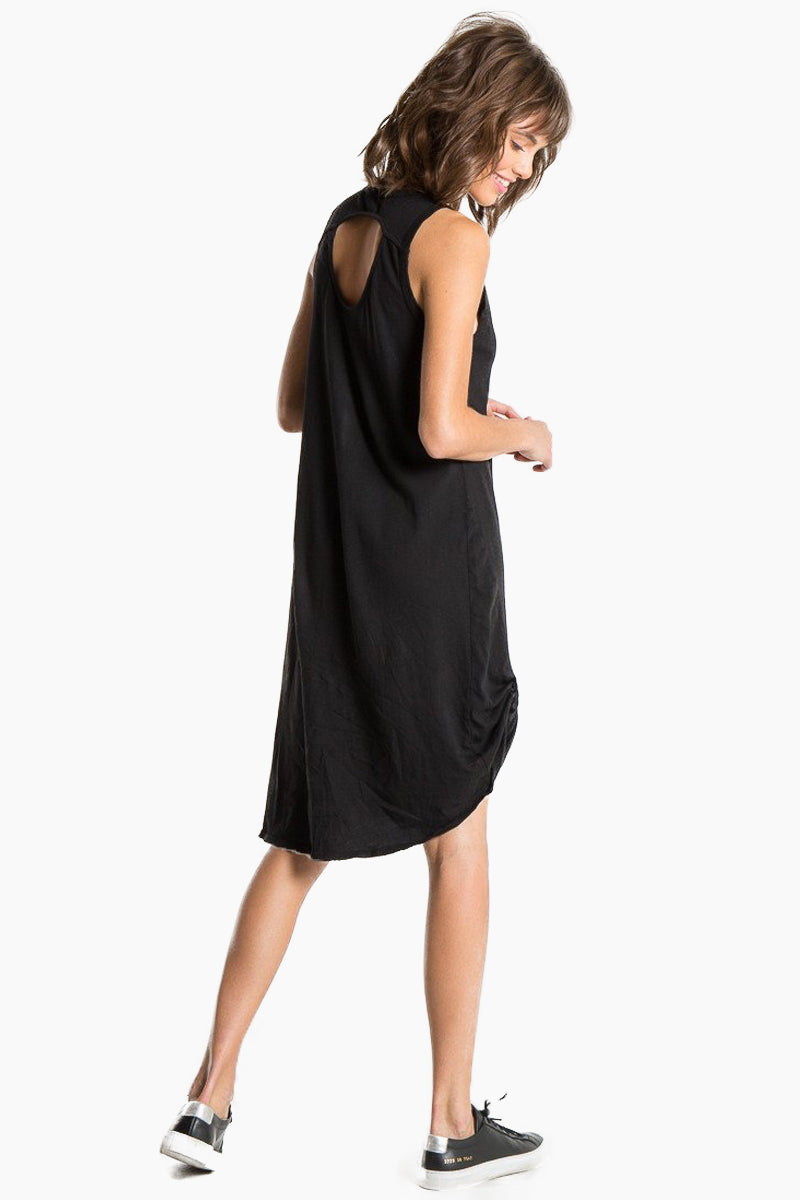 N:PHILANTHROPY Boo Dress - Black Cat Dress | Black Cat| n:Philanthropy Boo Dress - Black Cat Scoop neckline  Sleeveless t-shirt dress  Faux knot tie at front Keyhole cut out in the back Made in LA  Back View