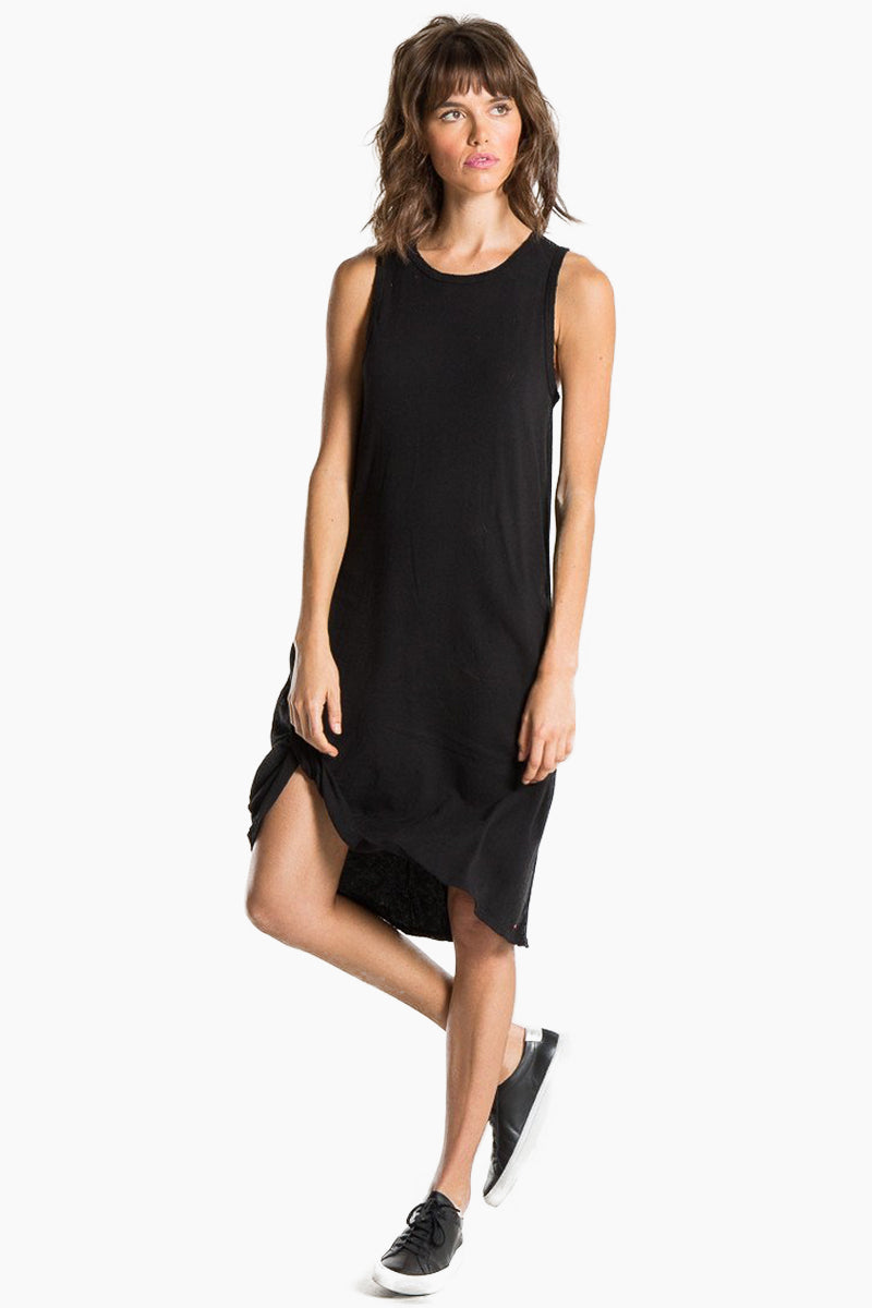N:PHILANTHROPY Boo Dress - Black Cat Dress | Black Cat| n:Philanthropy Boo Dress - Black Cat Scoop neckline  Sleeveless t-shirt dress  Faux knot tie at front Keyhole cut out in the back Made in LA  Front View