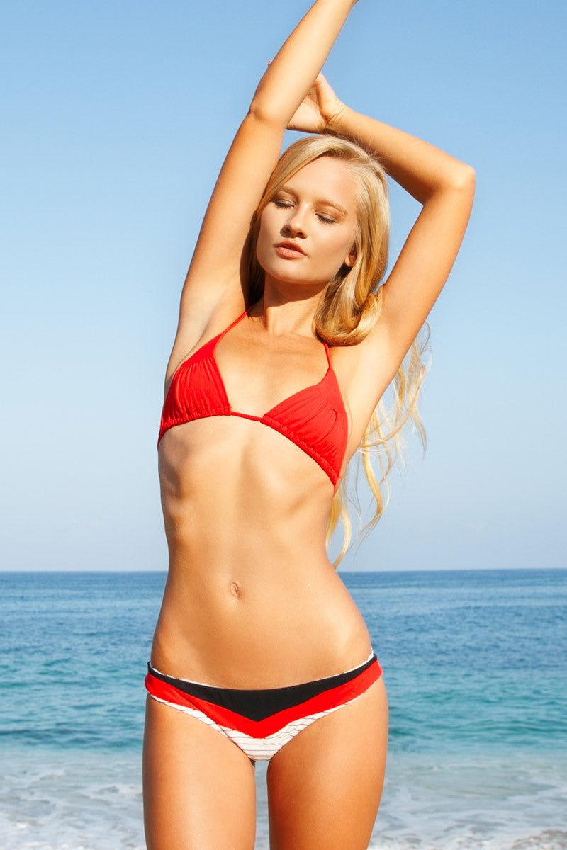 BOYS + ARROWS Millie The Misdemeanor Top Bikini Top | Cardinal|Lili