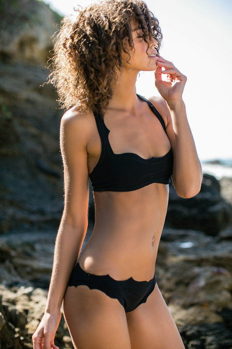 BOYS + ARROWS The Vicki Vail Top Bikini Top | Felon|Boys And Arrows The Vicki Vail Bikini Top And Bottom On Model