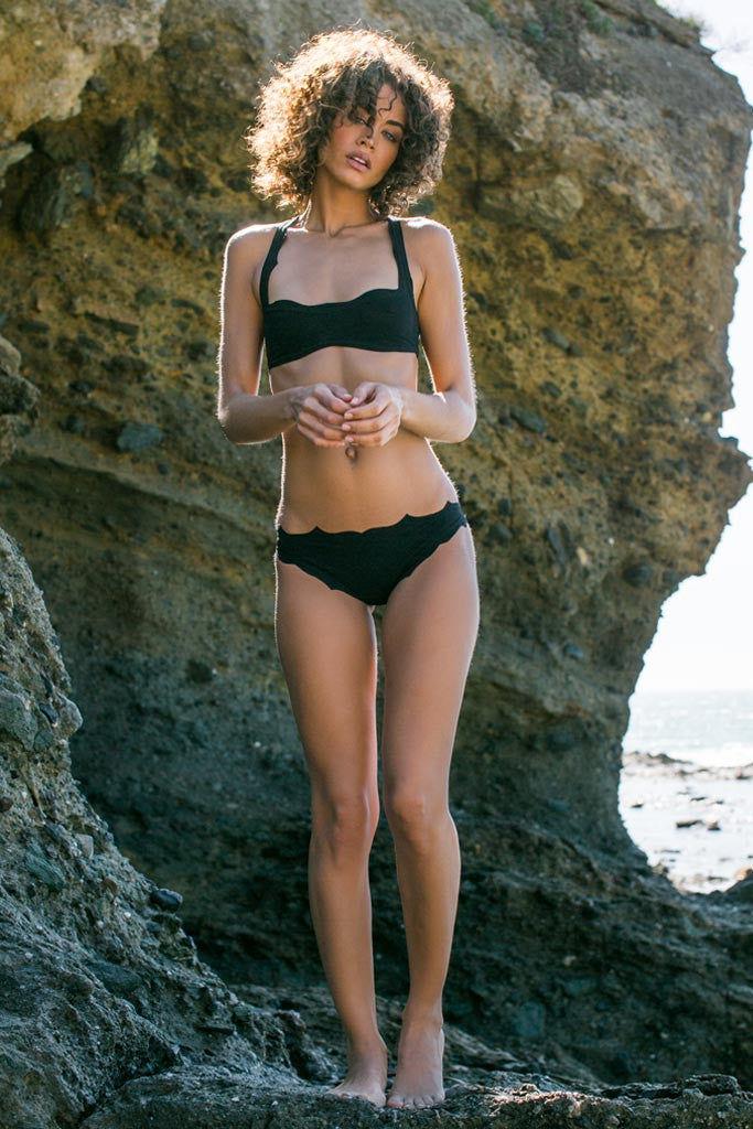 BOYS + ARROWS The Vicki Vail Bottom Bikini Bottom | Felon| Boys And Arrows The Vicki Vail Bikini Top And Bottom On Model