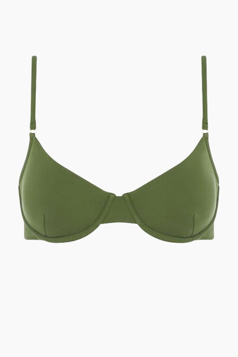 FELLA Brad Underwire Bikini Top - Olive Bikini Top | Olive| Fella Brad Top - Olive front view