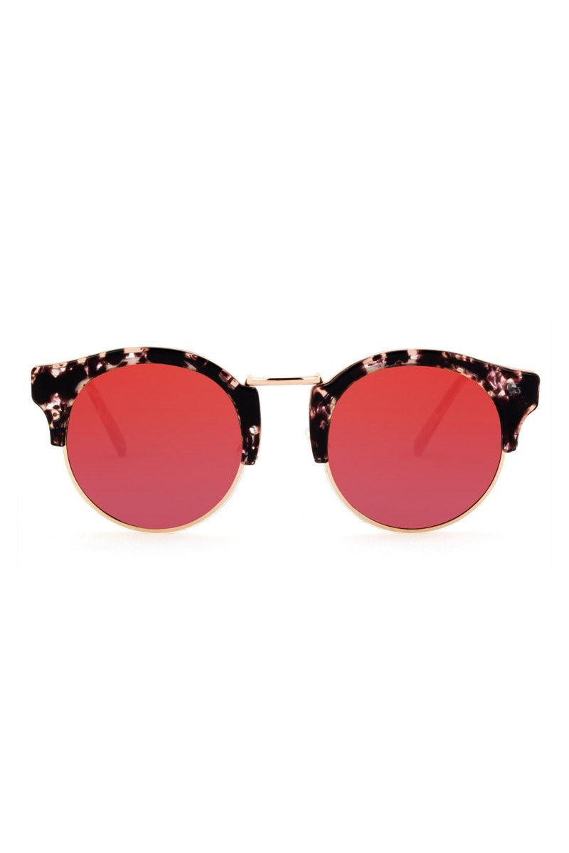 7535190c3da BONNIE CLYDE The Broadway Sunglasses - Lovesick Red