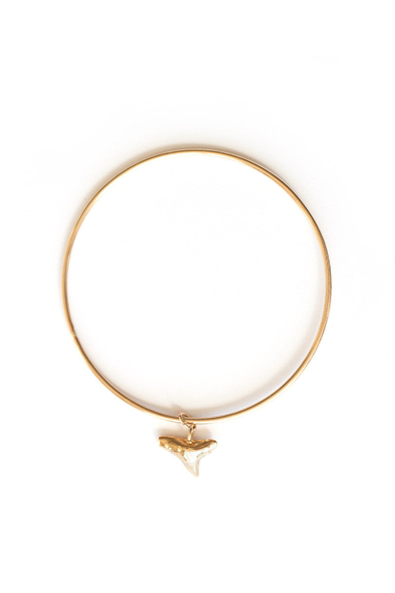 BYCHARI Shark Tooth Bangle Jewelry | Gold|