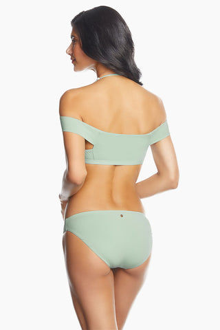 0431abf01be0f ... RADIO FIJI Mandala Off The Shoulder Bandeau Bikini Top - Celadon Green  Bikini Top