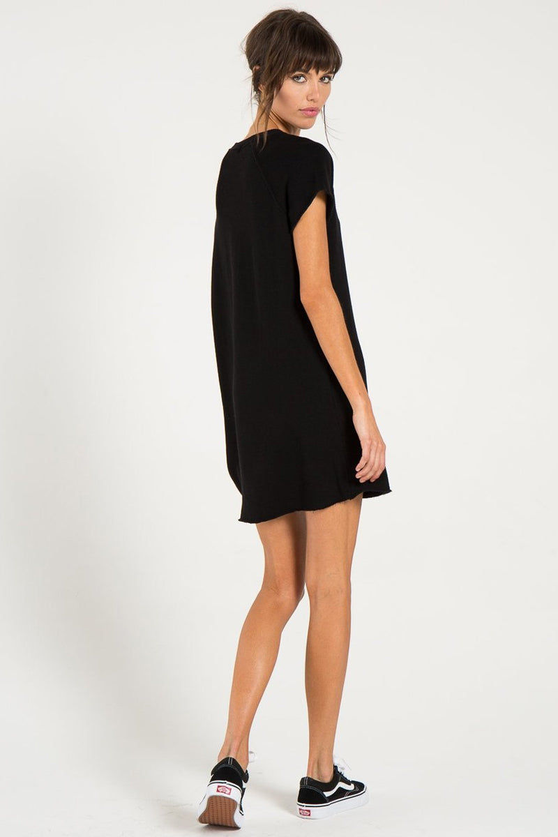 N:PHILANTHROPY Calalilly Mini Dress - Black Cat Dress | Black Cat| n:Philanthropy Calalilly Mini Dress - Black Cat  Mini Dress Scoop Neckline Short Sleeves Back View