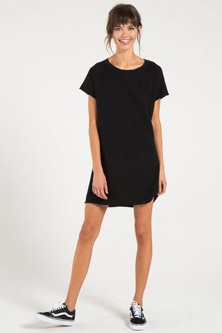 N:PHILANTHROPY Calalilly Mini Dress - Black Cat Dress | Black Cat| n:Philanthropy Calalilly Mini Dress - Black Cat  Mini Dress Scoop Neckline Short Sleeves Front View