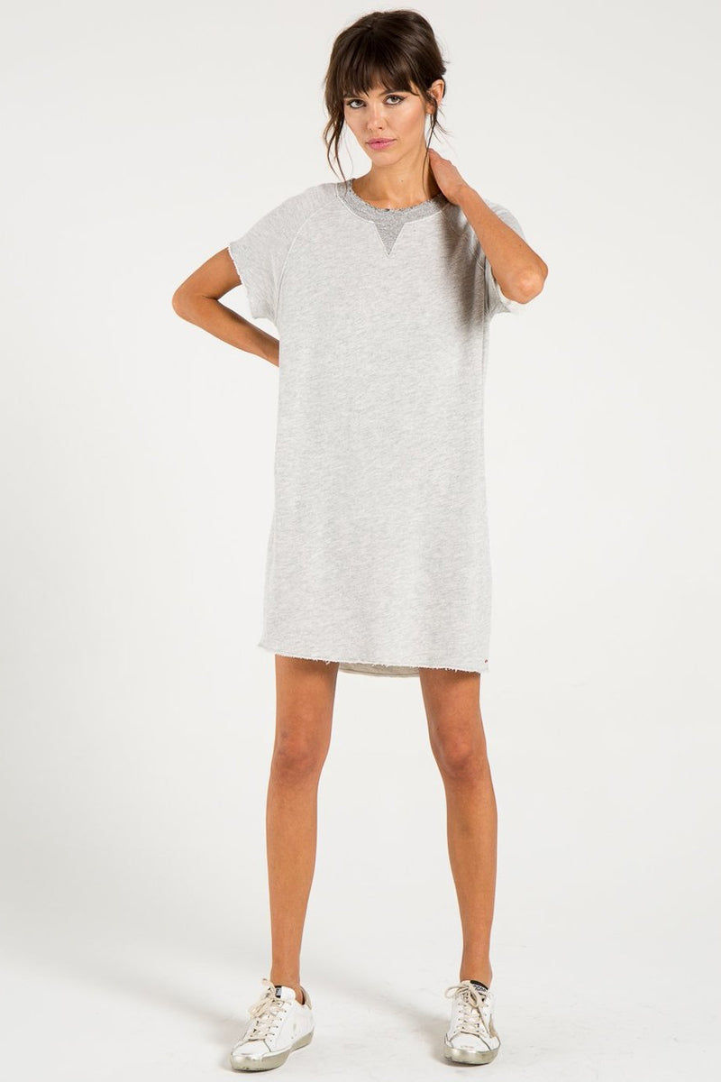 N:PHILANTHROPY Calalilly Mini Dress - Heather Grey Dress | Heather Grey| n:Philanthropy Calalilly Mini Dress - Heather Grey Mini Dress Scoop Neckline Short Sleeves Front View