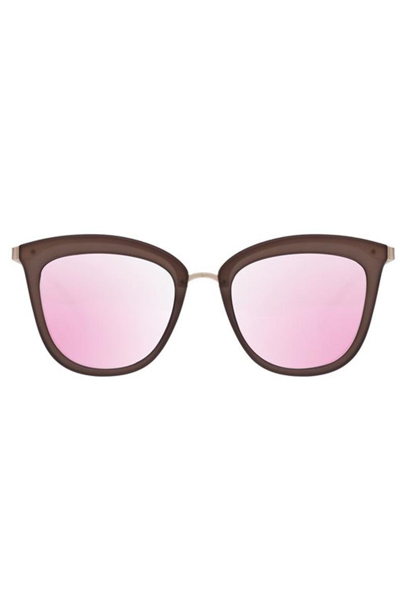 LE SPECS Caliente Sunglasses - Matte Mocha/ Gold Sunglasses | Matte Mocha/ Gold| Le Specs Caliente Sunglasses As Seen On Olivia Palermo