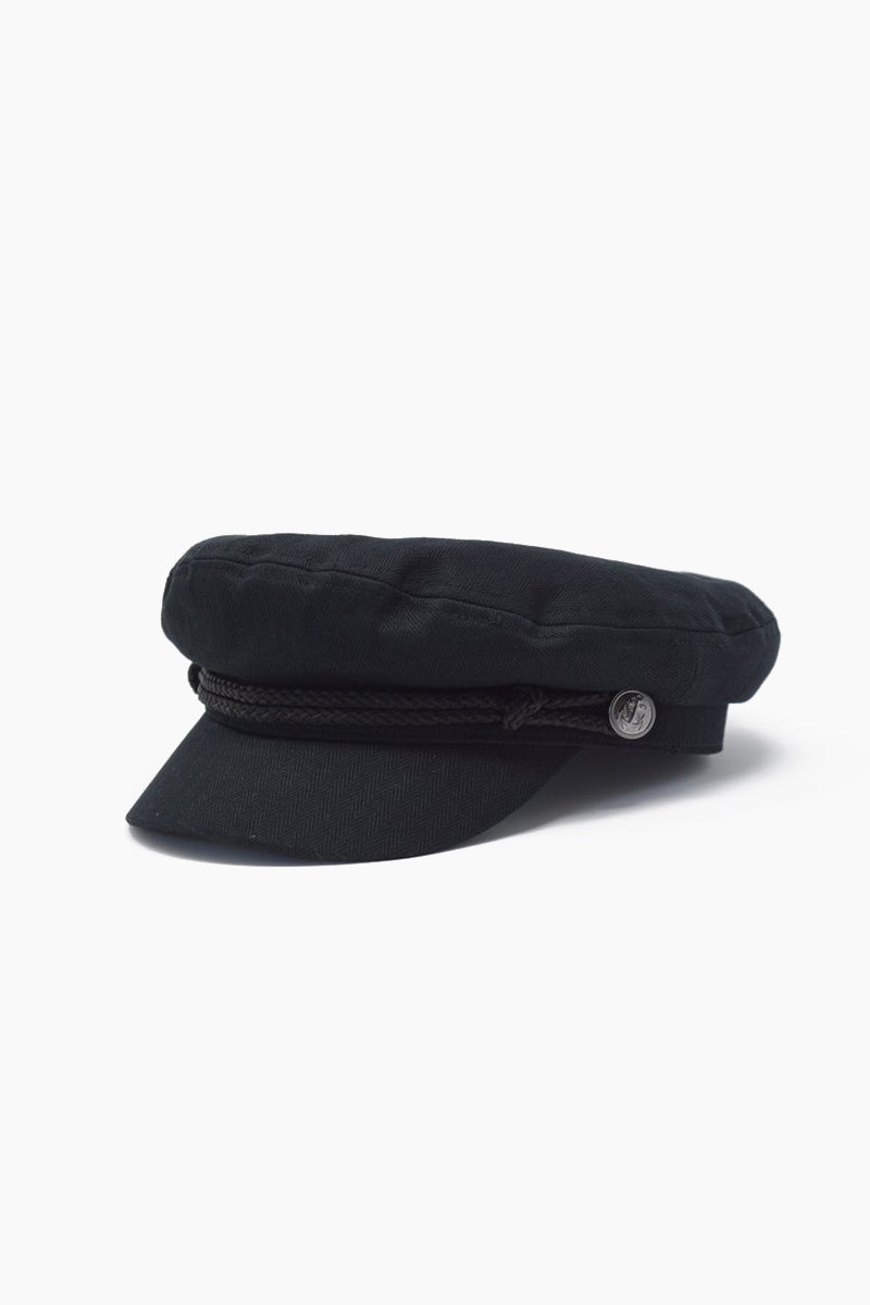 0889ee5c65 WYETH Captain Cap With Brocade - Black