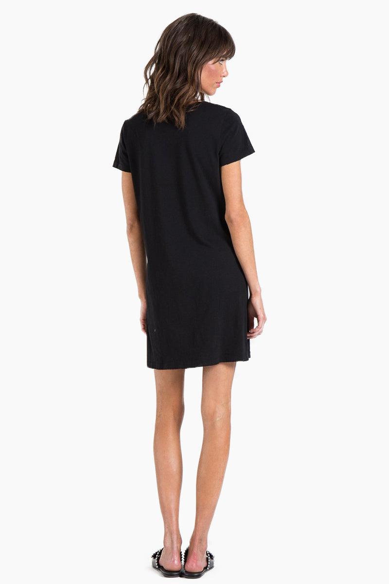 N:PHILANTHROPY Carlita T Shirt Mini Dress - Black Cat Dress | Black Cat| n:Philanthropy Carlita Mini Dress - Black Cat Mini t-shirt dress Round neckline  Short sleeves  Front cut out detail  Back View