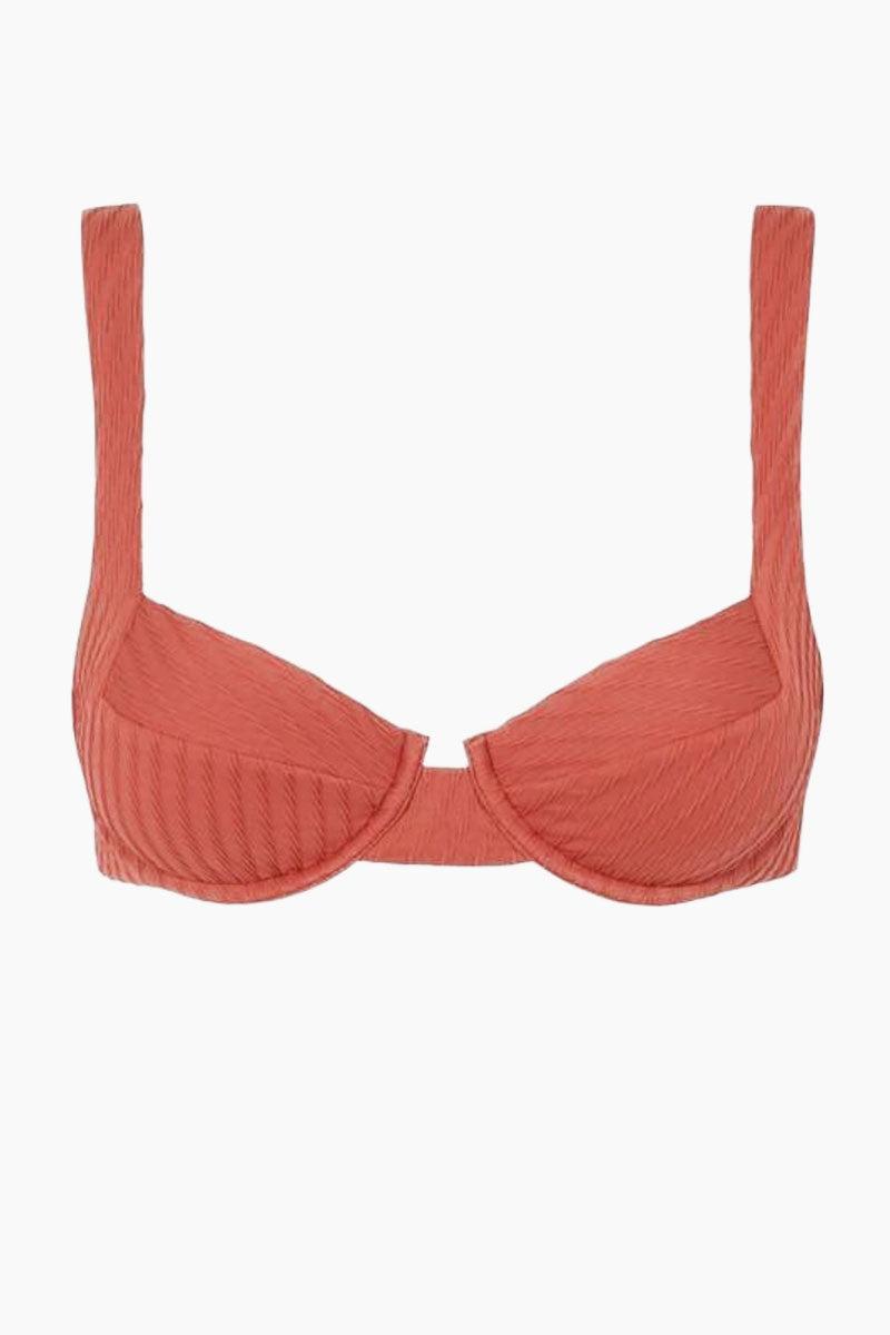 FELLA Casanova Underwire Thick Strap Bikini Top - Spice Bikini Top | Spice | Fella Casanova Top - Spice front view