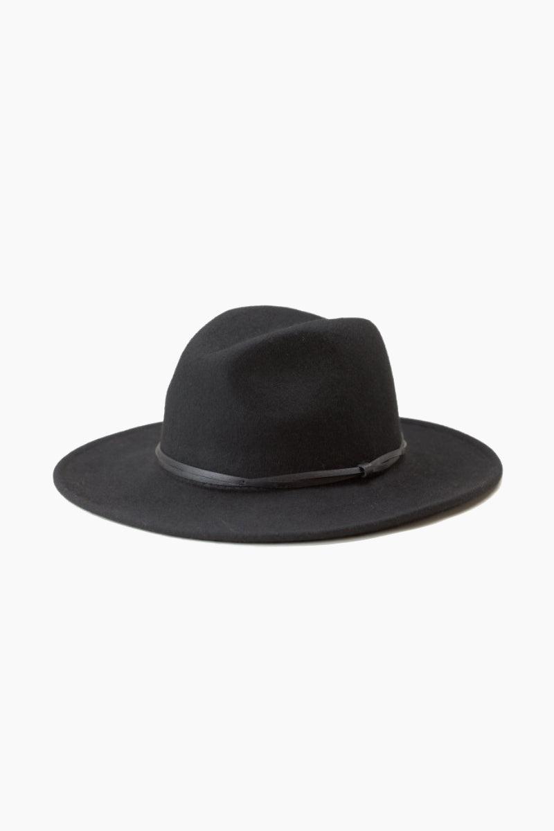 WYETH Connor Felt Hat - Black Hat | Connor Felt Hat - Black