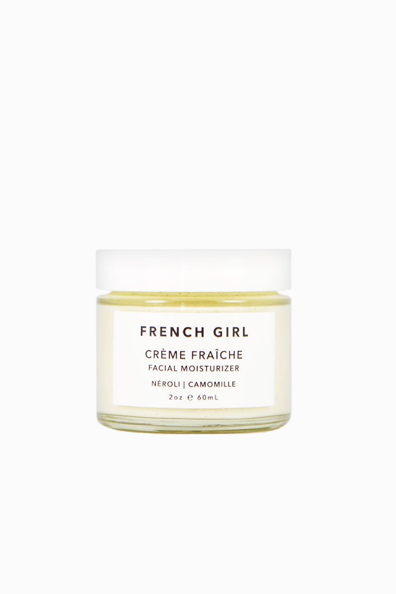 FRENCH GIRL ORGANICS Crème Fraîche - Néroli Camomile Beauty | Néroli Camomile|French Girl Organics Creme Fraiche - Vitamin E - protects the skin from signs of aging and restores elasticity. • Shea, Kokum, Mango and Cocoa Butters - provide deep hydration. Glycerin - seals in moisture for optimal hydration. Blue Yarrow and Frankincense Essential Oils - reduce inflammation