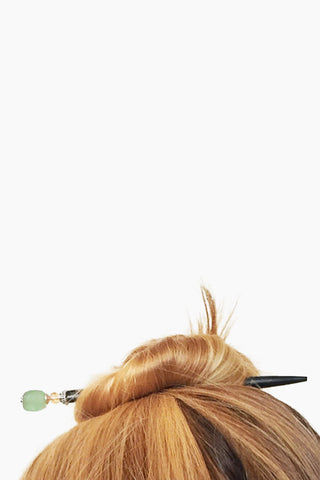 TIDAL HAIR STICKS Daliah Hair Sticks (Set of 2) - Green Hair Accessories | Daliah Hair Sticks (Set of 2) - Green | Tidal Hair Sticks Lifestyle Image