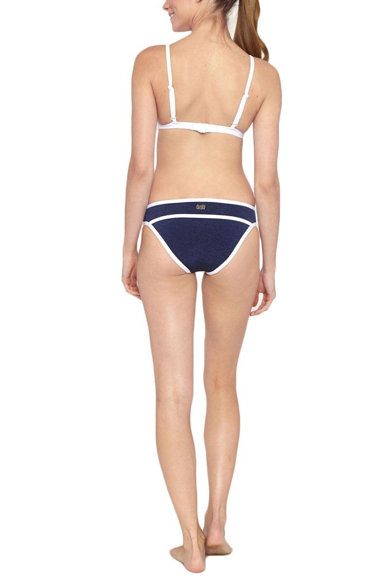 DUSKII Monte Carlo Pant Bikini Bottom | Indigo/White| Duskii Monte Carlo Pant