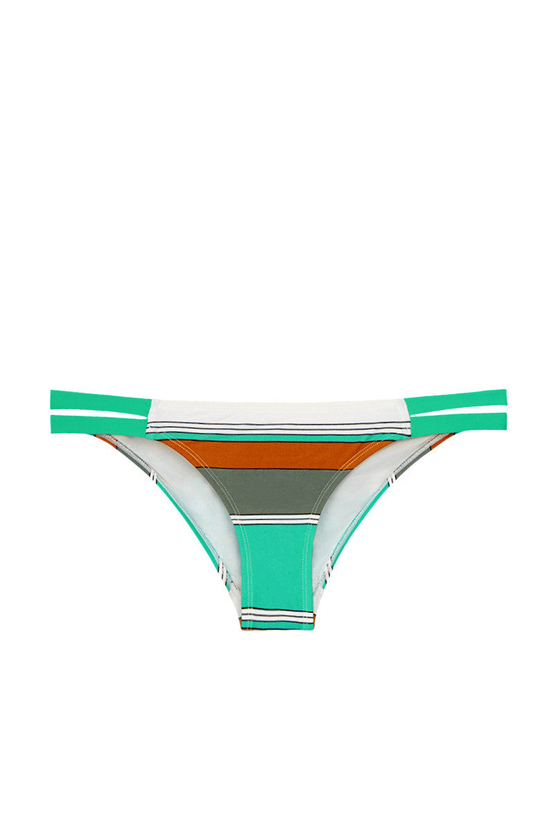 EIDON SWIM Low Rider Bottom Bikini Bottom | Eucalyptus Print| Eidon Low Rider Bikini Bottom
