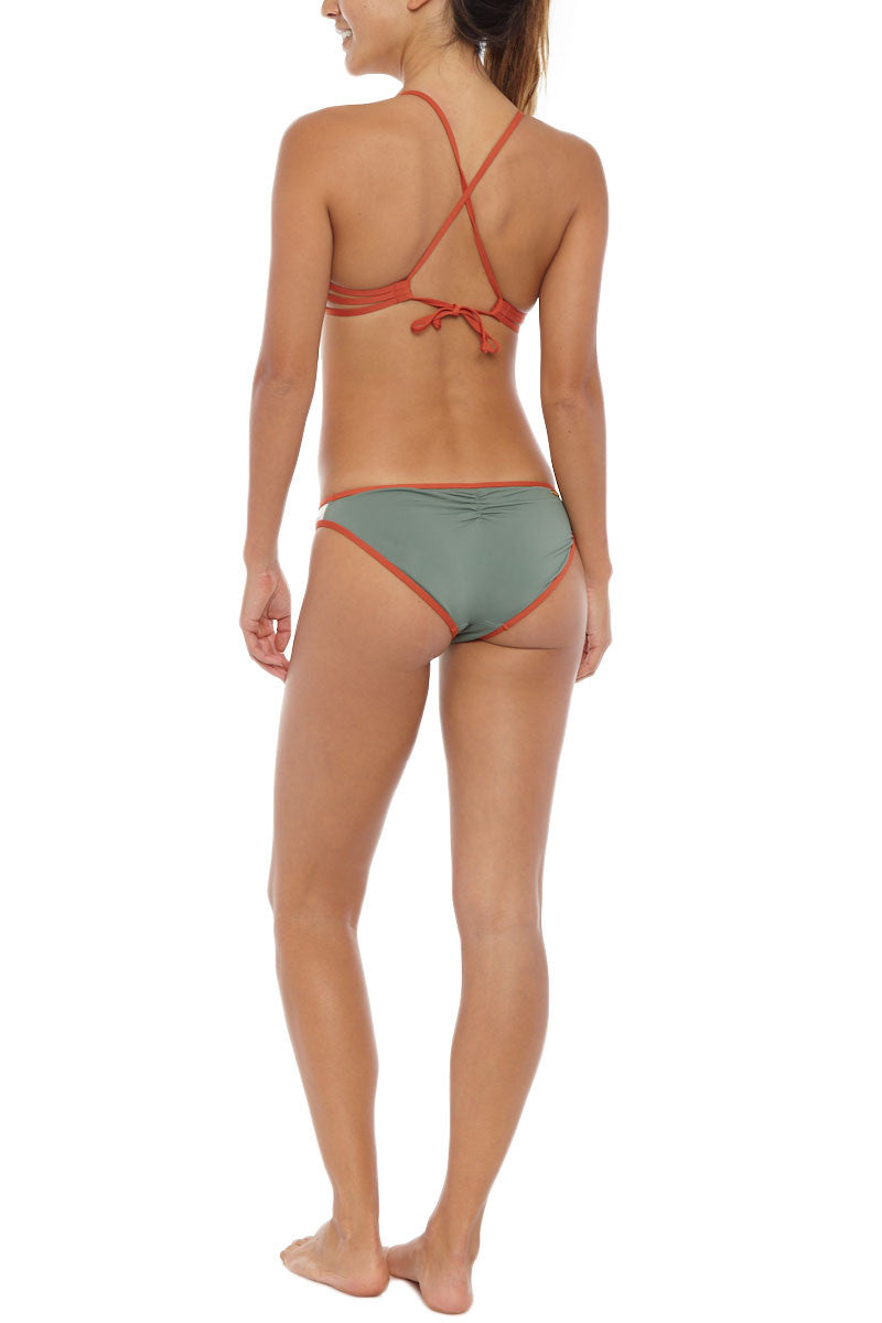 EIDON SWIM Madison Criss Cross Bikini Top - Nolina Bikini Top   Nolina  Eidon Madison Criss Cross Bikini Top - Nolina  Criss cross back straps Adjustable ties at the back Removable padding Available in D/DD sizes Back View