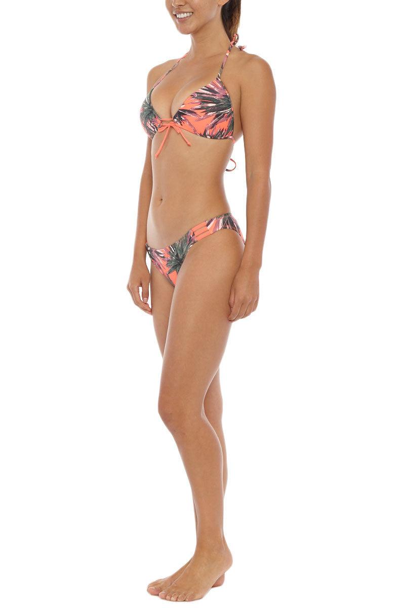 EIDON SWIM Strappy Bikini Bottom Bikini Bottom | Agave Print| Eidon Strappy Bikini Bottom. Features:  Strappy side detail Full coverage Ruched detail at back 80% Nylon, 20% Spandex Front View