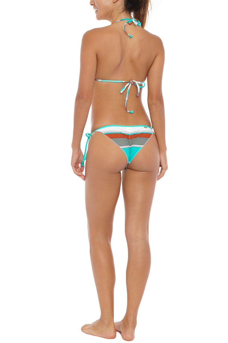 EIDON SWIM Summer Front Tie Triangle Bikini Top - Eucalyptus Print Bikini Top   Eucalyptus Print  Eidon Printed Summer Bikini Top
