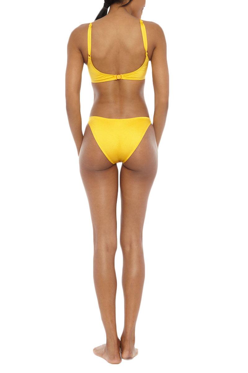 EMMA FORD Tash Classic Bikini Bottom - Sunshine Bikini Bottom | Sunshine| Emma Ford Tash Classic Bikini Bottom - Sunshine. Back View. Sits on hip. Medium coverage. Fully lined.