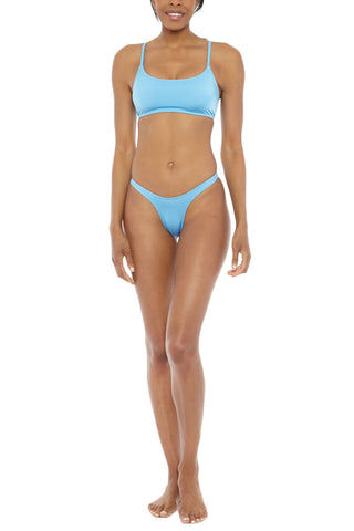 EMMA FORD Eva High Cut Bikini Bottom - Sky Blue Bikini Bottom | Sky Blue| Emma Ford Eva High Cut Bikini Bottom