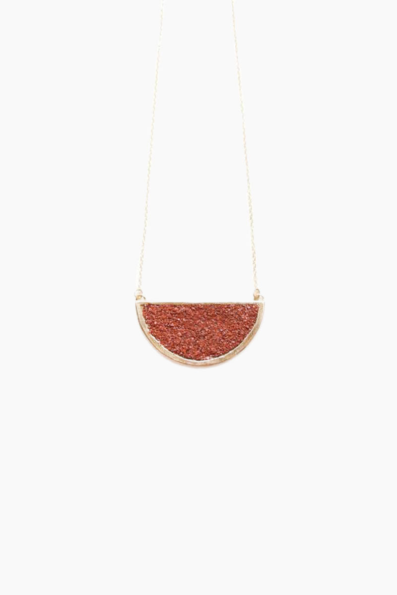 DEA DIA JEWELRY Epoch Necklace - Red Opal Jewelry | Epoch Necklace - Red Opal | Dea Dia Jewelry hand carved necklace