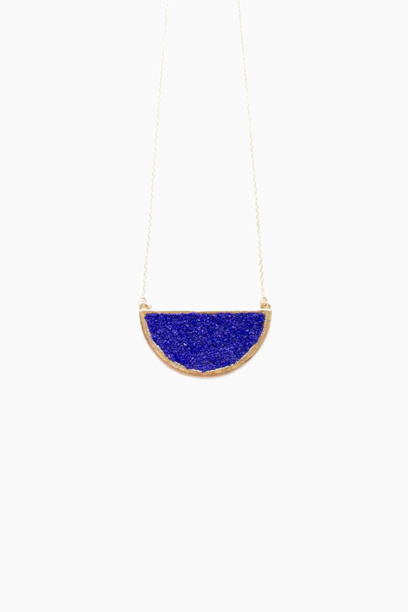 DEA DIA JEWELRY Epoch Necklace - Blue Lapis Jewelry | Epoch Necklace - Blue Lapis | Dea Dia Jewelry hand carved necklace