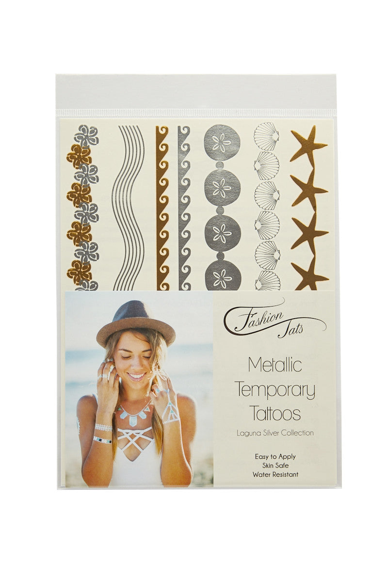 FASHION TATS Laguna Silver Pack Accessories | Silver| Fashion Tats Laguna Silver Pack