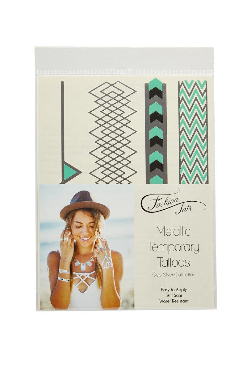 FASHION TATS Geometric Pack Accessories | Silver| Fashion Tats Geometric