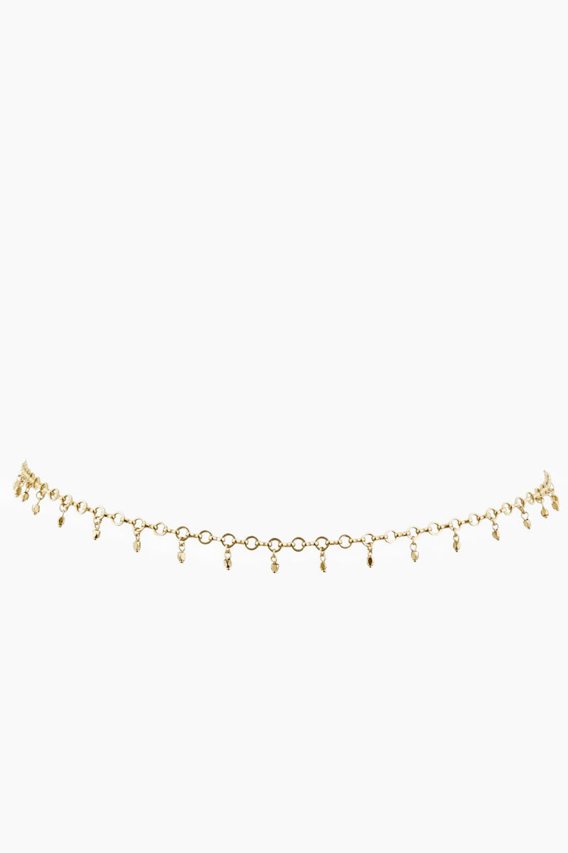 """LUV AJ Faceted Bead Belly Chain - Gold Jewelry 