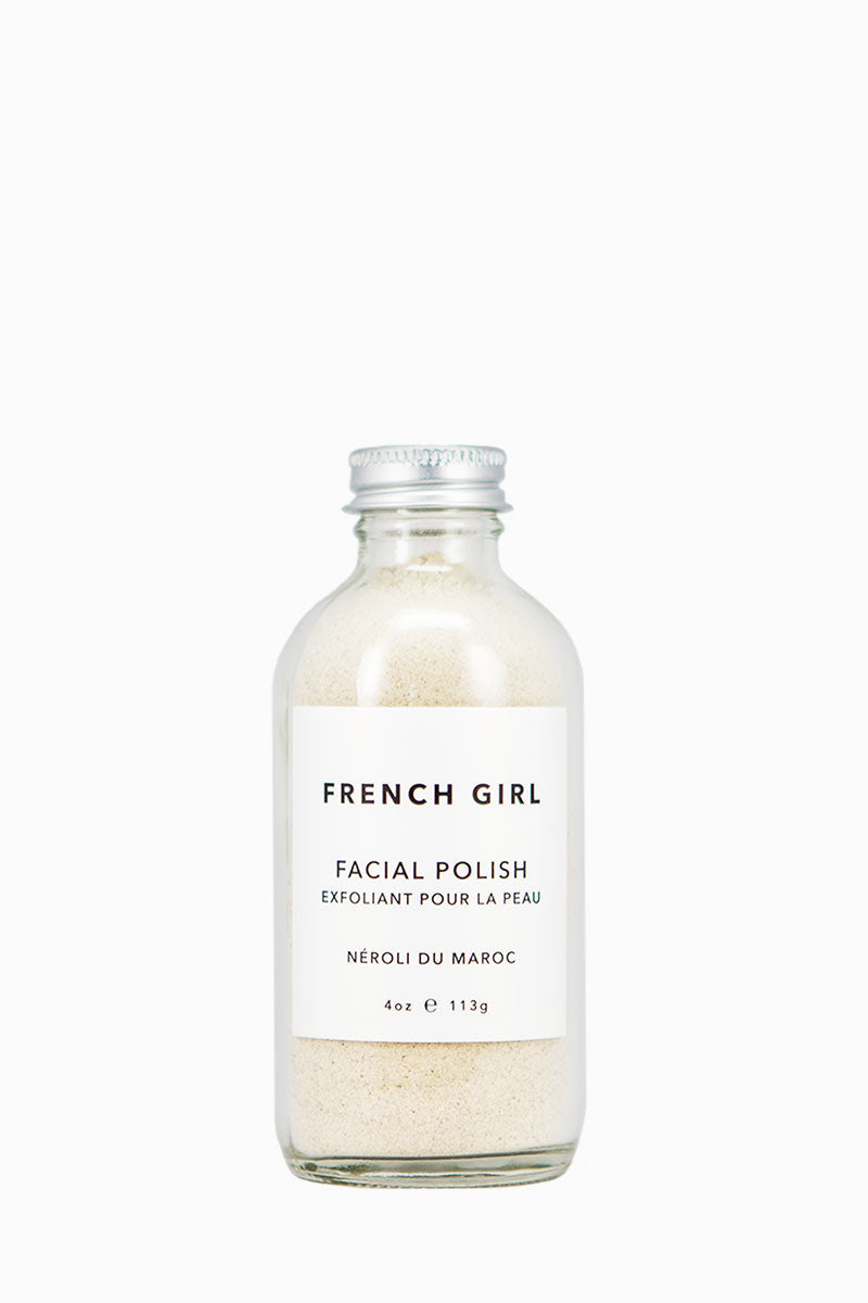 FRENCH GIRL ORGANICS Facial Polish Exfoliator - Néroli Du Maroc- 4 oz Beauty | Néroli Du Maroc|French Girl Organics Facial Polish Exfoliator - Moroccan Rhassoul Clay - draws out toxins and debris while reducing the appearance of pores. Flower petals - contain plant antioxidants that soothe and brighten the complexion.
