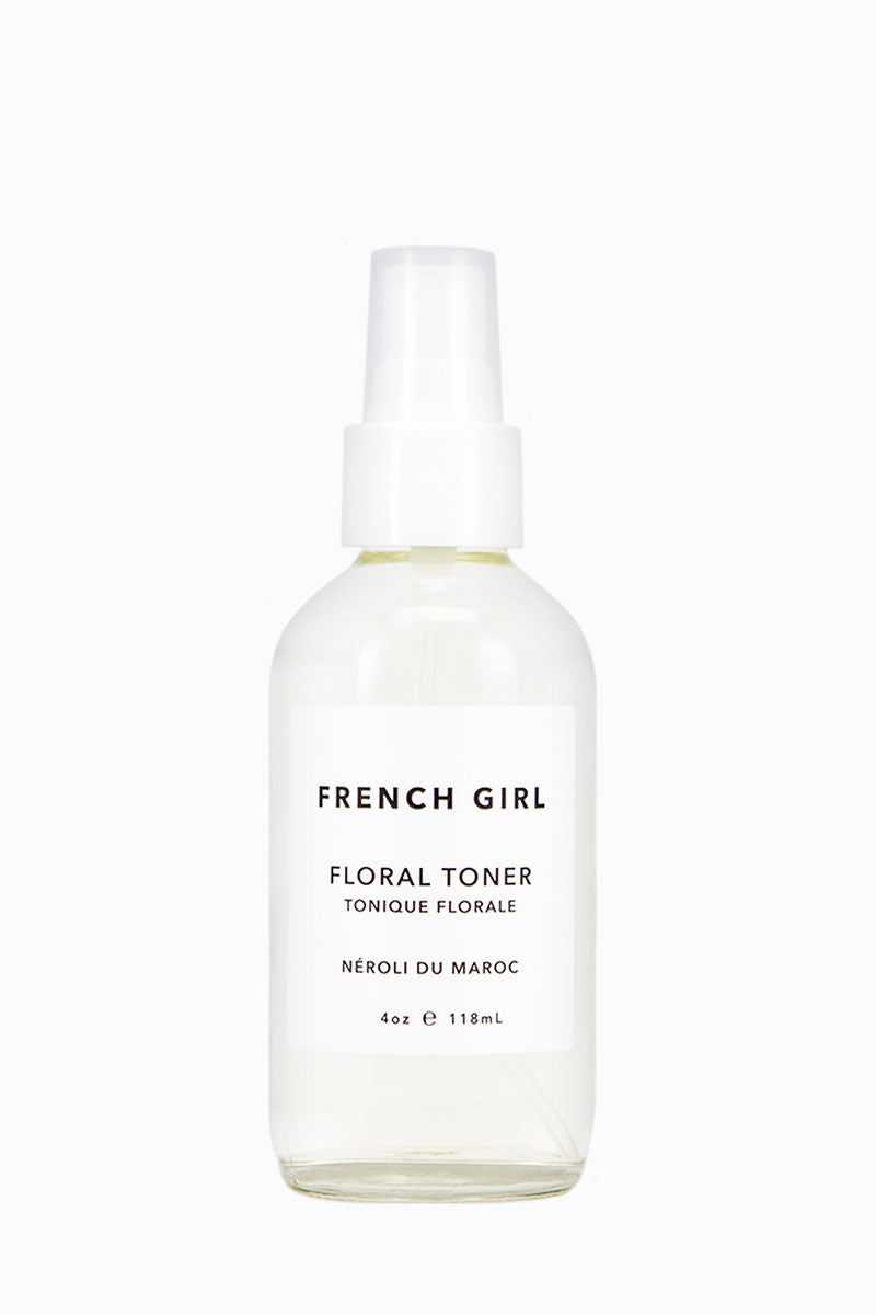 FRENCH GIRL ORGANICS Floral Toner - Néroli Du Maroc Beauty | Neroli Du Maroc| French Girl Organics Floral Toner - Neroli Du Maroc This Hydrating + Soothing Rose Scented Toner Is Blended With Sea Mineral Extracts To Remove Impurities + Clarify The Complexion 100% Plant Ingredients 80-100% Organic 100% Vegan Friendly Paraben free, Sulfate free, Cruelty free Front View