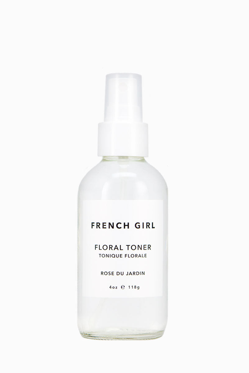 FRENCH GIRL ORGANICS Floral Toner - Rose Du Jardin Beauty | Rose Du Jardin| French Girl Organics Floral Toner - Rose Du Jardin Floral distillates - restore the skin's natural pH. Rose, Neroli, and Lavender - provide anti-inflammatory and antiseptic benefits. Excellent for toning the skin before makeup application. May be used as an on-the-go  cooling, refreshing mist. For extra benefits, combine with Rose or Neroli Facial Polish as a masque. Front View