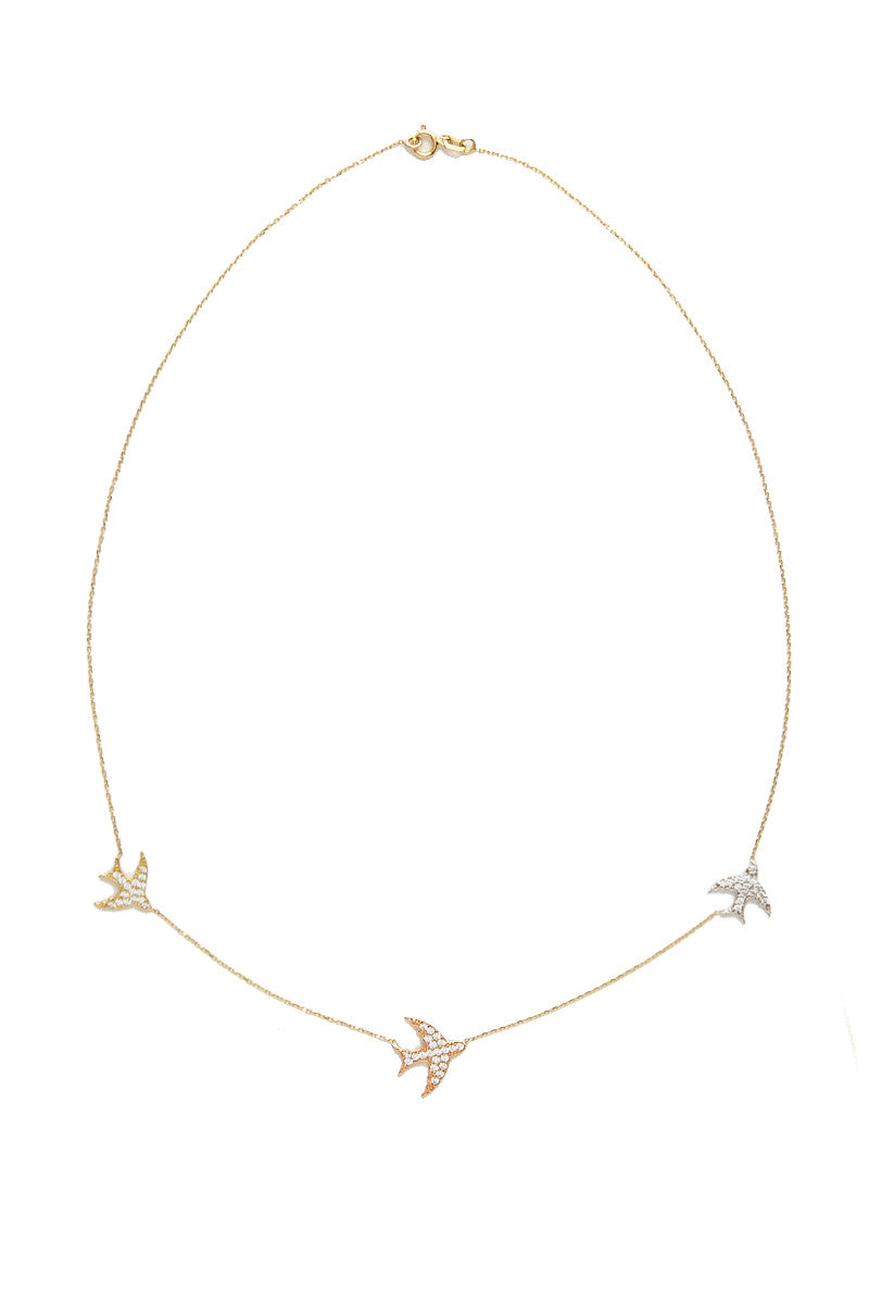 TALIA NAOMI Pave Fly Me To The Moon Necklace Jewelry | Gold| Talia Naomi Pave Fly Me To The Moon Necklace