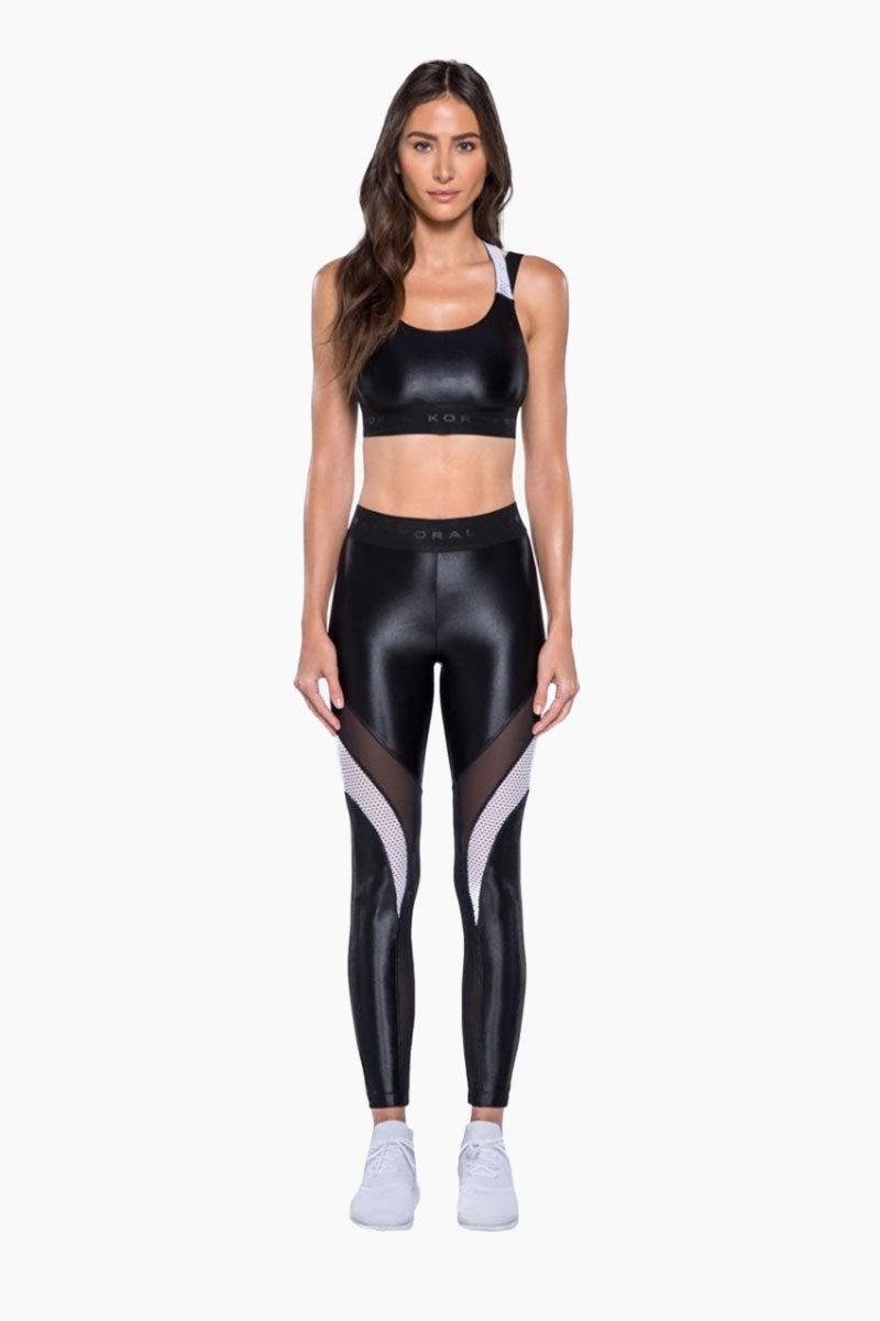 KORAL Forte Sports Bra - Black Activewear | Black| KORAL Forte Sports Bra Front View